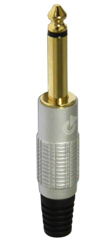 punta dorata e guidacavo con corpo in alluminio S60 Spina Jack mono 6,3 mm